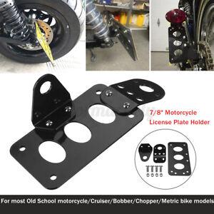 Universal Motorcycle Side Mount License Number Plate Holder Tail Light Bracket