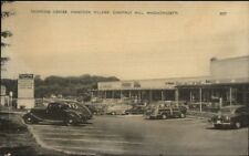 Chestnut Hill MA Hancock Village Shopping Center Postcard
