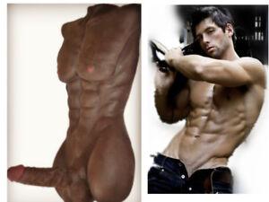Realistic Male Doll Women Ladies Gay Man Sex Torso Silicone Dildo Lifelike Toy