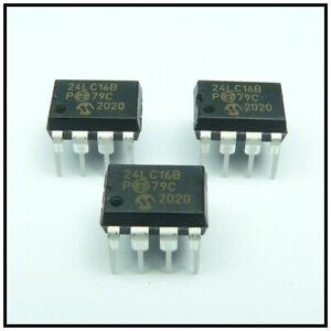 3 Stück  EEPROM 24LC16B/P für Grundig Satellit 700