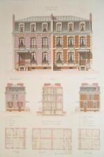ARCHITECTURE Color Print - VICTORIAN Brick Mansions Avenue Perichont in Paris