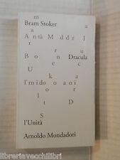DRACULA Bram Stoker Francesco Saba Sardi L Unita e Mondadori 1979 romanzo libro