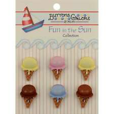 Fun In The Sun Buttons Ice Cream Cones 840934098144
