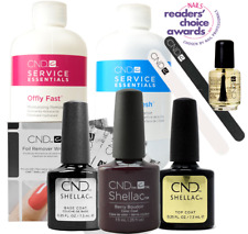CND Shellac Starter Kit, Top/Base/Essentials/Color Berry Boudoir