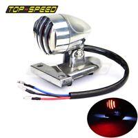 Motorcycle Retro LED Rear Brake Tail Light License Plate Lamp Chopper Universal