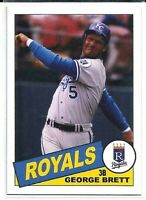 GEORGE BRETT KANSAS CITY ROYALS 1985 STYLE CUSTOM MADE BASEBALL CARD BLANK BACK