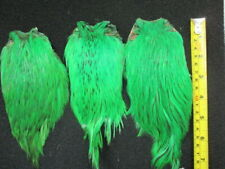 indian cock necks capes domestic 3 x highlander green capes flytying