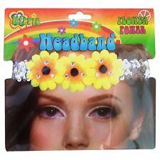 Hippie Hippy 60's Flower Power Daisy Sequin Headband Costume Accessory