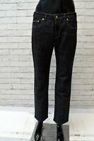 Jeans Donna TRUSSARDI Taglia 29 Pantalone Pants Woman Gamba Dritta Regular Nero