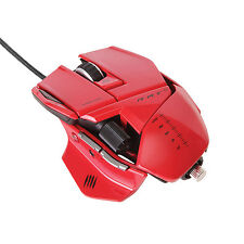 Mad Catz Cyborg R.A.T. RAT 5 Gaming Laser Mouse 5600 dpi RED for PC & Mac