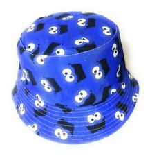 New Blue Cookie monster  eyes face Bucket hat festival outdoor holiday hats