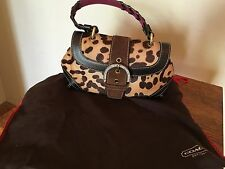 COACH - RARE Poppy Ocelot Madison Leopard Print Evening Bag with Calf Pony Hair