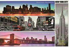 Empire State Building, Brooklyn Bridge, Broadway etc New York City NY - Postcard