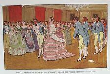 Vecchia stampa da CECIL ALDIN c1915 Signor jorrocks DANCING sale da ballo vintage interior