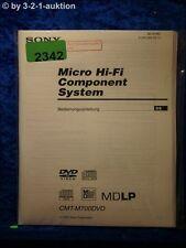 Sony Bedienungsanleitung CMT M700DVD Component System (#2342)
