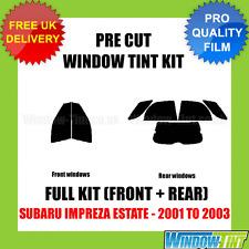 SUBARU IMPREZA ESTATE 2001-2003 FULL PRE CUT WINDOW TINT KIT