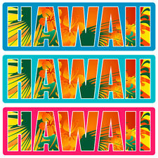 Car Window Bumper Sticker - Hawaiian Art Decal - Hawaii Floral Type
