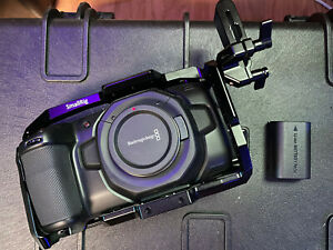 Blackmagic Design Pocket Cinema Camera 4K BUNDLE.  Cage, AC, Resolve , More