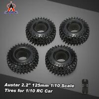 "4Pcs  Austar 2.2"" 125mm 1/10 Scale Tires for 1/10 RC4WD D90 RC Rock Crawler J8R7"