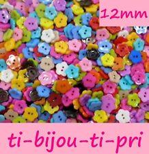 LOT de 50 BOUTONS COEUR HEART 2 TROUS acrylique 10 x 10mm multicolores tricot