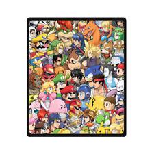 New Super Smash Bros Characters Print Fleece Blanket Size 40x50 50x60 58x80 Inch