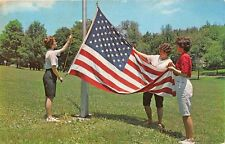 JENNERSTOWN PA 1969 Flag Raising Time at Camp Sequanota VINTAGE ELCA CAMP GEM+++