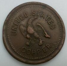 Civil War Token Tradesmens Currency Good for One Cent United States Copper