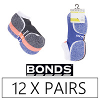12 x BONDS MENS ULTIMATE COMFORT LOW CUT SOCKS -  Ankle Socks