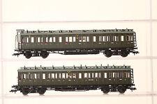 Fleischmann H0 lange Abteilwagen 5874 und 5873 grün 3.Klasse der DRG  (49939)