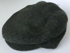 Mens Wool Green Tweed Cap Hat Newsboy Flat Ireland John Hanly & Co. sz S NWT