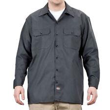 Camicie casual da uomo grigie ampio