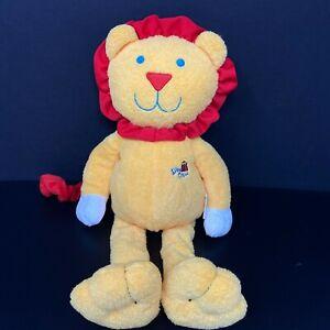 Burton Silly Circus Orange Lion Plush Long Red Tail Mane Baby Lovey Stuffed