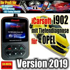 i902 iCarsoft OBD für OPEL Diagnosegerät Tiefendiagnose ABS Airbag ECU Deutsch +