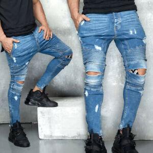 By Alina MEXTON Herren Jeanshose Boyfriend Jeans Destroyed W29 - W36 #M55