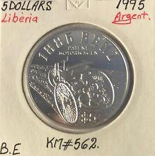 LIBERIA - 5 DOLLARS - 1995 - Pièce de Monnaie en Argent // Qualité : BE