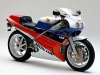 HONDA VFR750R RC30 VINTAGE MOTORCYCLE MOTORBIKE POSTER BROCHURE ADVERT A3!