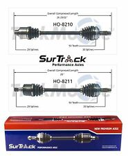 Honda Pilot Acura MDX 03-08 V6 Pair of Front CV Joint Axle Shafts SurTrack Set