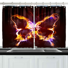 "Beautiful Butterfly Decor Kitchen Curtains Window Drapes 2 Panels Set 55*39"""