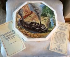 New! Above the Canyon - The Golden Age of American Railroads Plate, Ted Xaras