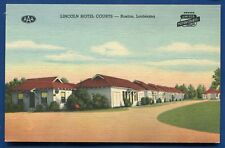 Ruston Louisiana la Lincoln Hotel Courts linen postcard