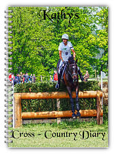 A5 PERSONALISED EQUINE HORSE RIDER CROSS COUNTRY LOGBOOK DIARY PLANNER 50 PAGES