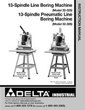 Delta 13 Spindle Line Boring Machine Instruction Manual 32-326 SPIRAL BOUND