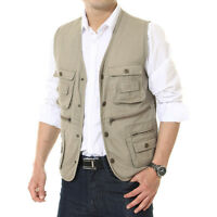 Men Outdoor Fishing Vest Male Leisure Photography Casual Director Waistcot Vest