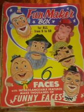 1956 1950's Fun Disguise Faces Fun Maker face maker Toy with box 1956
