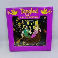 Tangled 10th Anniversary Jumbo Rapunzel Flynn Lantern Boat LE 1000 Disney Pin