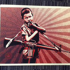 SHEPARD FAIREY ' DUALITY of HUMANITY 5'  LIMITED EDITION PRINT (Banksy)
