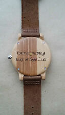 Personalised Gift Wooden Bamboo Laser engraved wrist watch