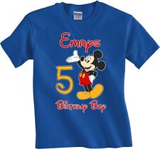 Disney Mickey Mouse Birthday BoyT-Shirt Personalized Age and Name
