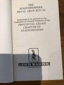 Masonic Staffordshire Ritual Book RHA Pocket Size