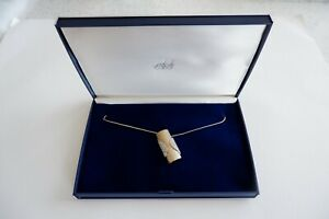 ATTWOOD & SAWYER 22CT GOLD PLATED SWAROVSKI SET NECKLACE - C1970'S, FITTED BOX